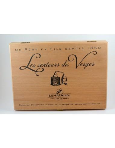 COFFRET BOIS 10 AMPOULES DE 2CL .