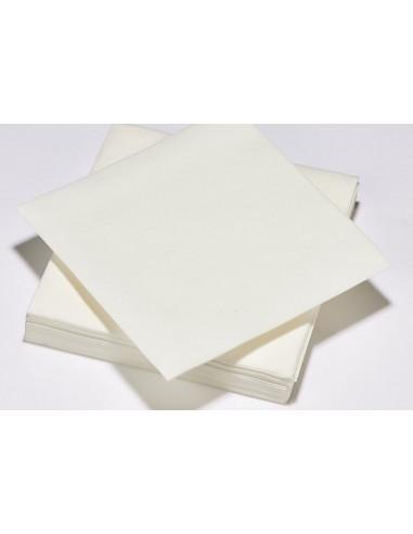 SERVIETTES X50 blanc 40X40 voie seche .