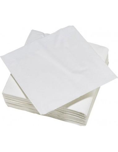 SERVIETTES X50 blanc 38x38 tendance uni