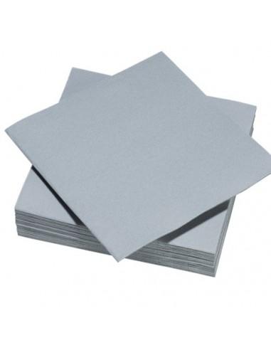 SERVIETTES X50 gris perle 40x40 voie...