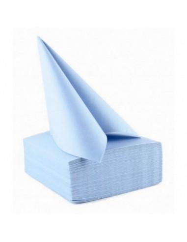 SERVIETTES X50 bleu ciel  40X40 voie...