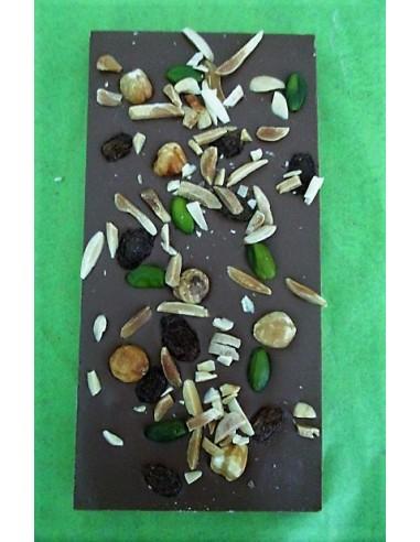TABLETTE CHOCOLAT NOIR MENDIANT 120G