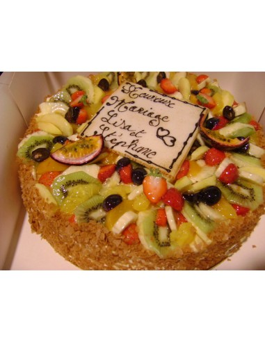 BISCUIT MOUSSE GARNI DE FRUITS 8PERS