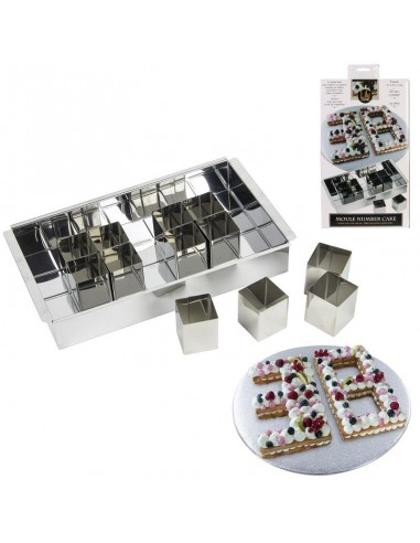 COFFRET NUMBER CAKE CUBE .