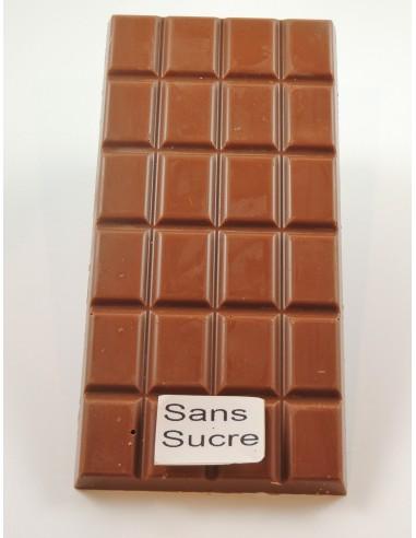 TABLETTE CHOCOLAT LAIT SANS SUCRE 100G